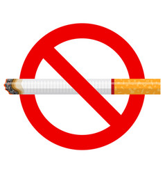 no smoking sign with cigarette for poster vector image