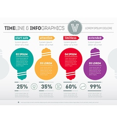Web Template of diagram or presentation Business vector image