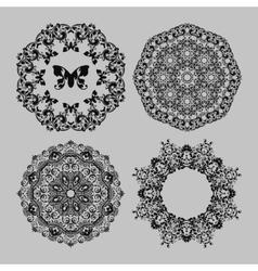 Abstract circle floral ornamental border vector image vector image