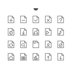 file ui pixel perfect well-crafted thin vector image vector image