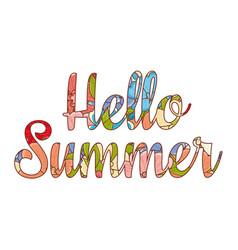 hello summer lettering best for banner vector image vector image