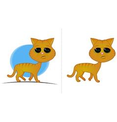 Orange Cat Cartoon vector image vector image