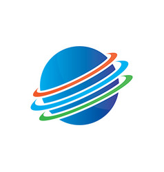 planet globe sphere color logo image image vector image