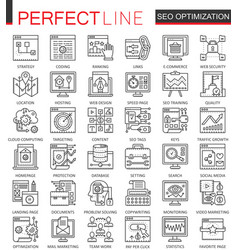 seo search engine optimization outline concept vector image vector image