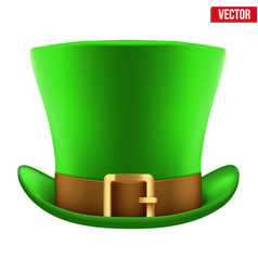 st patrick hat isolated on white background vector image vector image