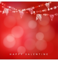 Valentines day greeting card invitation vector image vector image