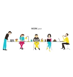 Work space concept vector image vector image