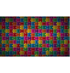 abstract puzzle background with colorful puzzle vector image