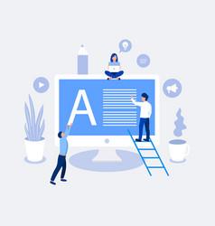 blogging design concept vector image