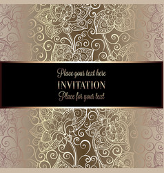 victorian background with antique luxury beige and vector image
