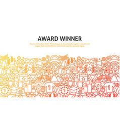 win award concept vector image