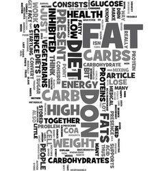 you can lose weight on a high carbohydrate diet vector image vector image