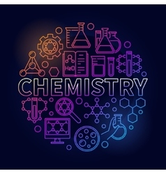 Chemistry colorful round vector image vector image