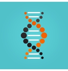 DNA genetic element and icon vector image