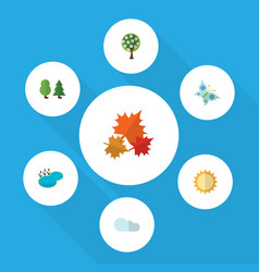 Flat icon natural set of canadian solar monarch vector