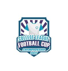 football or soccer sport game shield label design vector image vector image