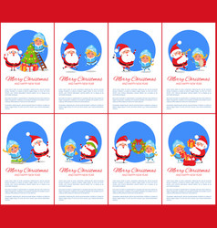 merry christmas poster text vector image vector image