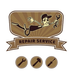 repair shop emblem vector image