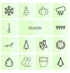 14 season icons vector image