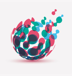 Abstract globe symbol isolated icon internet vector