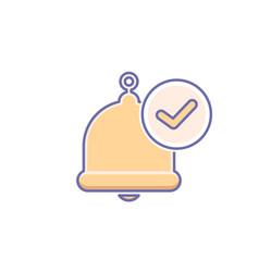 Alarm alert bell icon call check vector