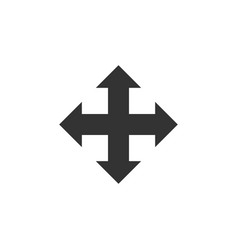 arrows in four directions icon isolated flat vector image