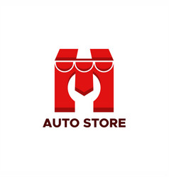 auto store logo vector image