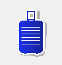 Baggage sign new year bluish vector