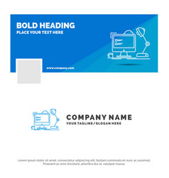 blue business logo template for workplace vector image