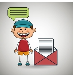 Boy guy message chat vector