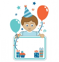 boy party background vector image vector image