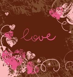 card of valentine day vector image