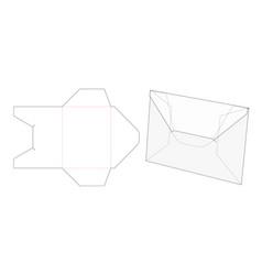 Cardboard flat folder die cut template vector