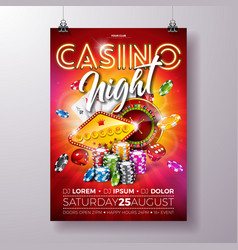 casino night flyer vector image