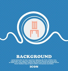 Chair sign Blue and white abstract background vector