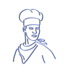 Chef looking to side neon sign vector