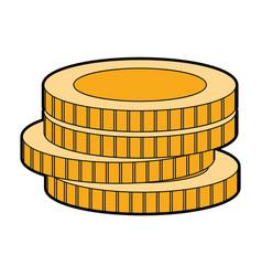 Coins cash money to financial economy vector