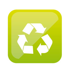 color square with recycling icon vector image