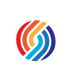 Colorful circle icon vector