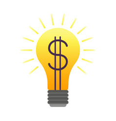 colorful lightbulb with dollar vector image