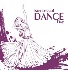 dance day belly dance vector image