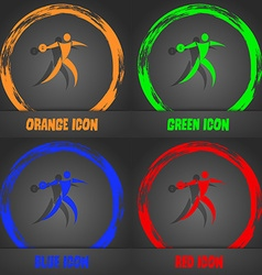 Discus thrower icon fashionable modern style in vector