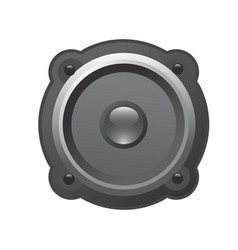 dynamics loudspeaker icon - glossy audio speaker vector image