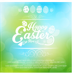 easter card on blurred background vector image