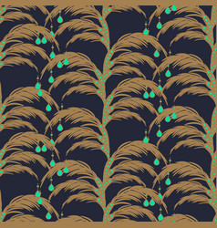 Elegant feather leaves seamless pattern vector