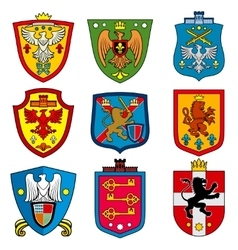 family dynasty medieval royal coat arms on vector image