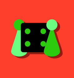 Flat icon design collection board game and dice vector