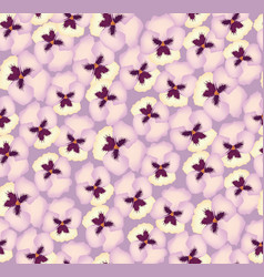 floral seamless pattern flower background bloom vector image