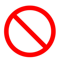 forbidden prohibition sign template vector image