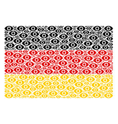 german flag pattern of eye items vector image